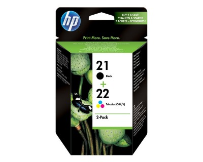 HP Combo Pack 21 + 22  BK, Couleur