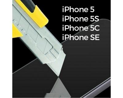 iPhone 5, 5S, 5C et SE : Verre trempé protection d'écran