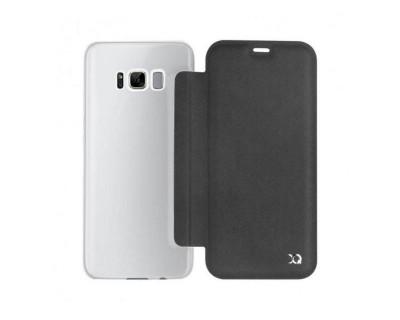 Samsung Galaxy S8 : Xqisit Couverture de livre Flap Adour