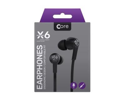 Core X6 écouteurs noirs - télécommande et microphone intégrés